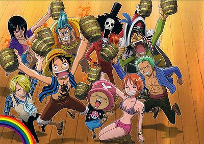 Sticker Autocollant Poster A4 Manga One Piece.luffy Team Zoro Sanji Franky 2 Amplia SeleccióN;