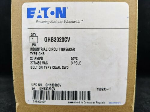 Eaton GHB3020CV GHB 3 POLE 20 AMP STEEL COLLAR Can be used in place of GHB3020V
