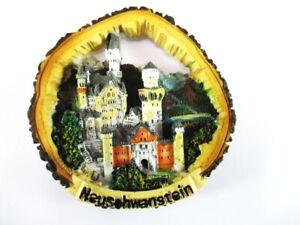 Schloss-Neuschwanstein-Poly-Fridge-Magnet-Baumrinde-Souvenir-Germany-Deutschland