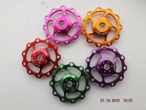 WEEK EIGHT CNC MACHINED ANODISED 11T JOCKEY WHEELS  SEALED BEARINGS PAIR  MTB XC