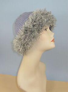 Knitting Instructions Faux Fun Fur Trim Beanie Hat