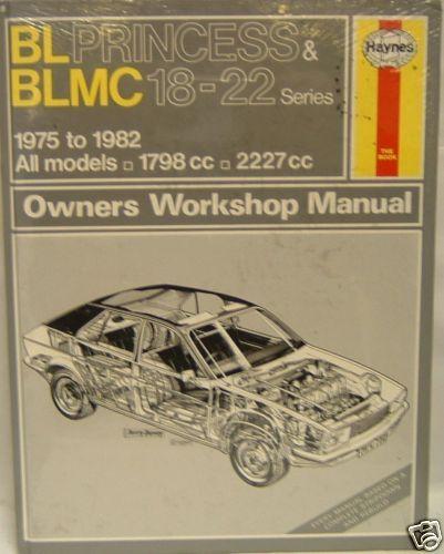 NUOVO manuale HAYNES BLMC 18//22 BL PRINCESS 0286