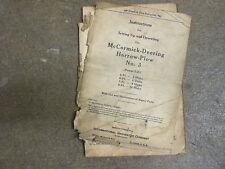 International Harvester 3 plow disk harrow owners & parts manual