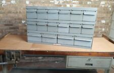 Real Equipto Usa 16 Drawers Unit Metal Parts Cabinet 12 Deep