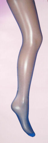 8-12 NEW glossy retro 80s look Electric Blue Sheer Glass Ladies Tights