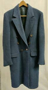 Tiger of Sweden  Wool  Blue Gray 100% Wool Coat
