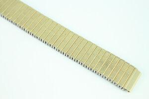 MAGEX-16mm-Zugband-Uhrenarmband-Flexband-Edelstahl-Goldfarben-Top-Qualitaet