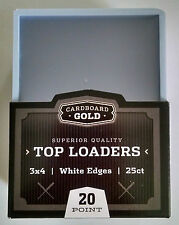 Pack of 25 - Cardboard Gold Standard White Border 3x4 Clear Rigid Top Loaders