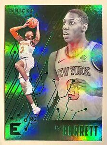 2019-20 Essentials RJ Barrett Teal Parallel Rookie Refractor SP RC Green Knicks