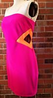 Women's Pink & Orange Dress Slim Form Fit Prom Formal Wedding Ross 13 Junior