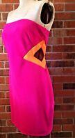 Women's Pink & Orange Dress Slim Form Fit Prom Formal Wedding Ross 13 Junior