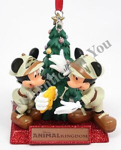 image is loading new disney parks animal kingdom mickey amp minnie - Minnie Mouse Christmas Ornament