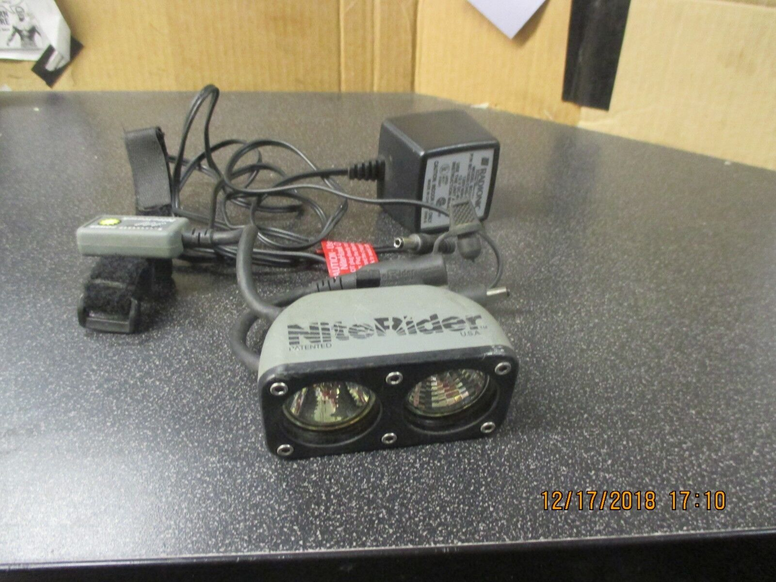 Nightrider NiteHawk head lamp & charger (no battery) Parts only
