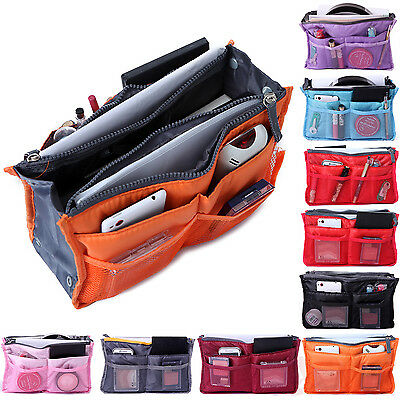 Women Travel Insert Handbag Organizer Purse Large Liner Organizer Tote Hand Bag