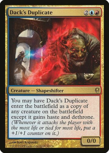 Dack/'s Duplicate Conspiracy NM Blue Red Rare MAGIC THE GATHERING CARD ABUGames