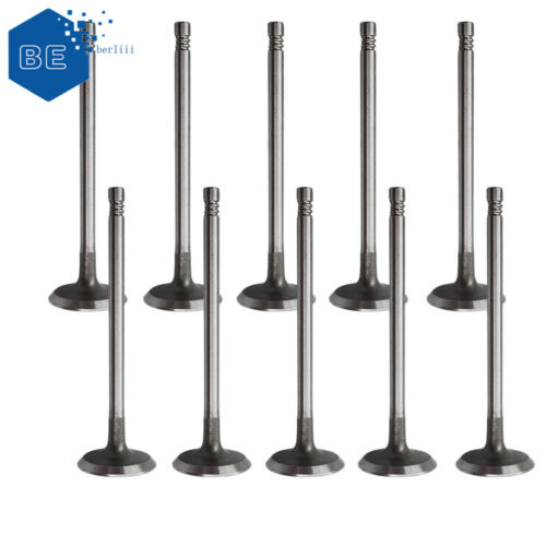 10 Intake Valves 6mm Stem 9454607 Fit for Volvo C30//70 V50//70 S40//60//70//80 XC70
