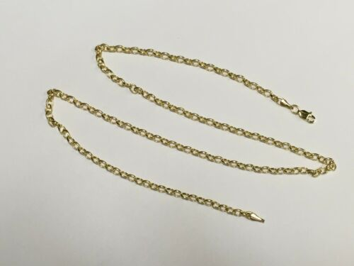 """14k Gold Round Cable ROLO Link Pendant Chain//Necklace 18/"""" 3.2 mm 3.5 grams"""