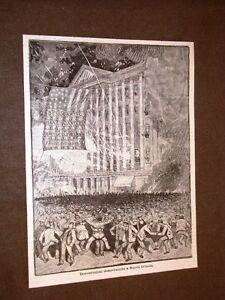 New-o-Nuova-Orleans-nel-1884-Dimostrazioni-democratiche-per-Grover-Cleveland-USA