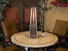 Outdoor Garden Patio Heater Bronze Portable Tabletop Glass Tube Warm  Propane Gas