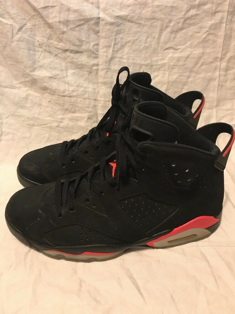 Nike Air Jordan VI 6 Retro Black Infrared 23-Black Infrared 384664-023 SZ 11.5