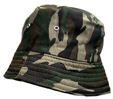 New Men's 'Woodland' Camouflage Reversible Bush/Bucket Hat One Size BNWT