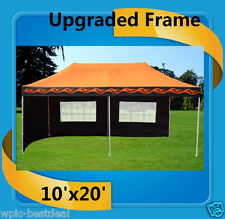 10'x20' Pop Up Canopy Party Tent EZ - Orange Flame - F Model Upgraded Frame