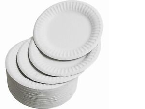 Image is loading 200-Disposable-7-034-Paper-PLATES-white-party-  sc 1 st  eBay & 200 Disposable 7
