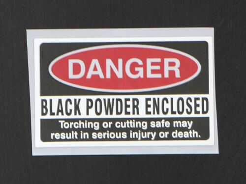 Danger - Black Powder Warning Sticker Helps Deter Burglars