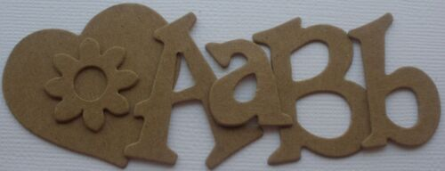 55 Pc 1.5 FUN SERIF FONT Upper /& Lowercase Alphabet Letters Chipboard