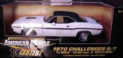 1970er dodge challenger r   t weißen 1,18 ertl amerikanische power 32753