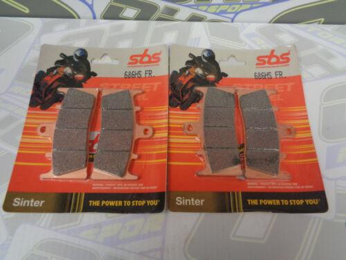 SBS Street Excel Sinter HH Front Brake Pads for Kawasaki ZRX1200 ZRX 1200 NEW