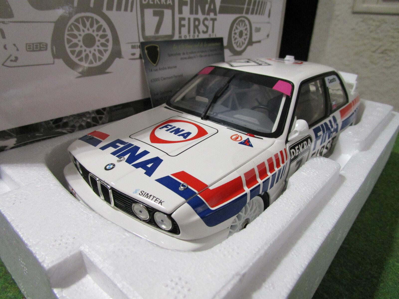 BMW M3 squadra FINA DTM 1992 CECOTTO au 1 18 MINICHAMPS 180922007 voiture miniature