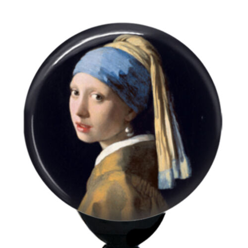 Vermeer Girl with a Pearl Earring Badge Reel Holder Custom ID Name Badge Holder