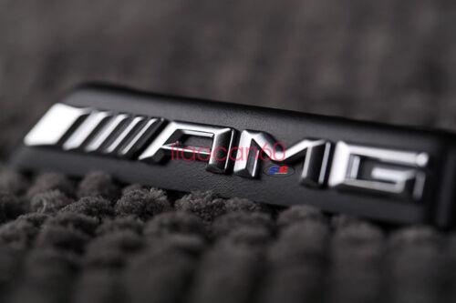 Black AMG Badge Front Bumper Grill Emblem for Mercedes Benz Class C63 W205 W212