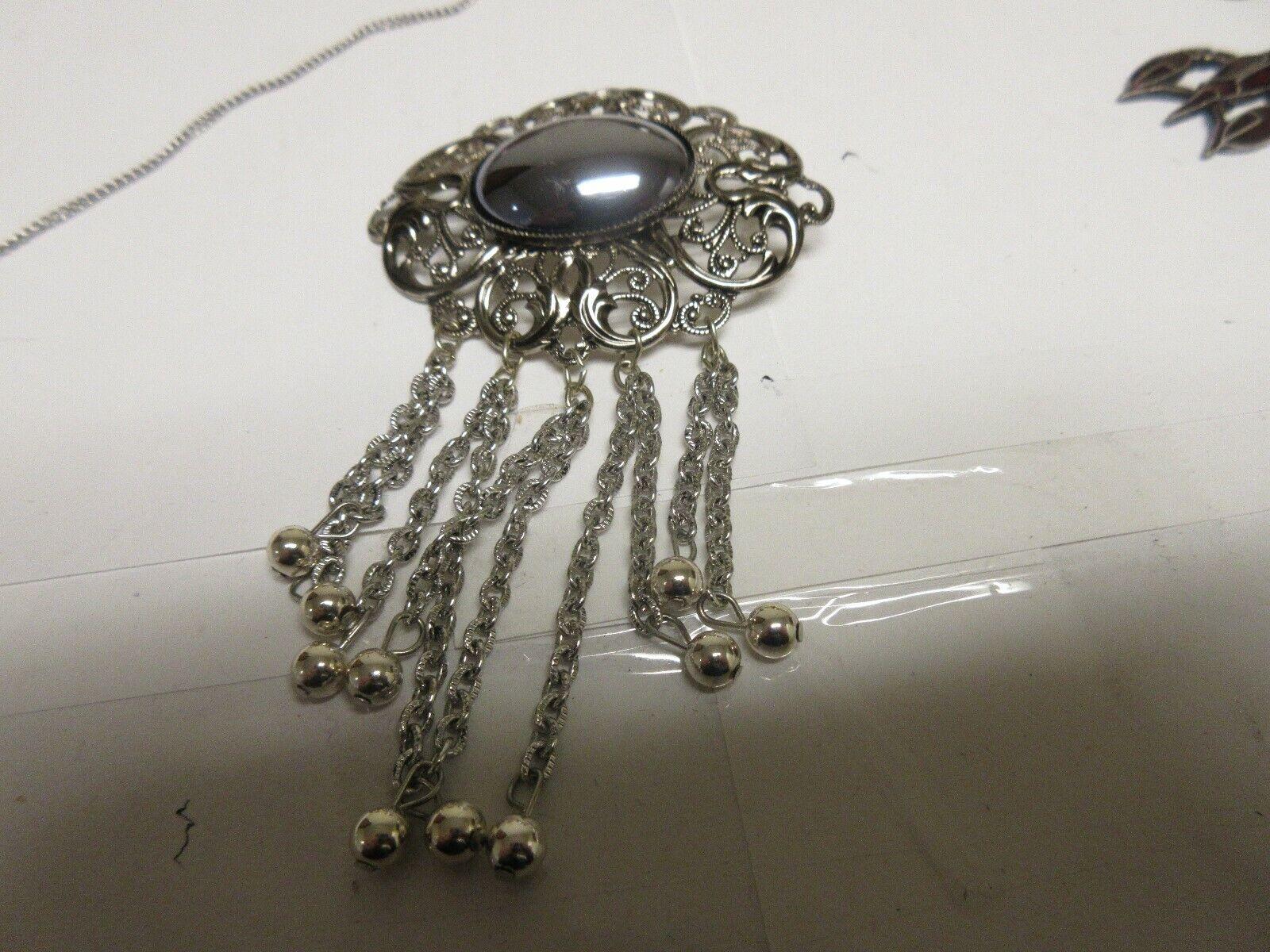 Costume Jewelry , Vintage , Necklace Pendant , Pin , Ea