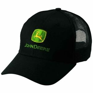 Genuine-John-Deere-Black-Mesh-Baseball-Cap-Adult-Hat-MCJ099399054