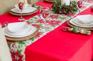 14x118-034-35x300cm-CHRISTMAS-TABLE-RUNNER-WITH-RED-POINSETTIA-ON-OFFER
