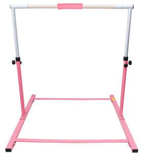 Details About Pink Adjustable Horizontal Hardwood Bar Gymnastics Children Home Gym Training Uk
