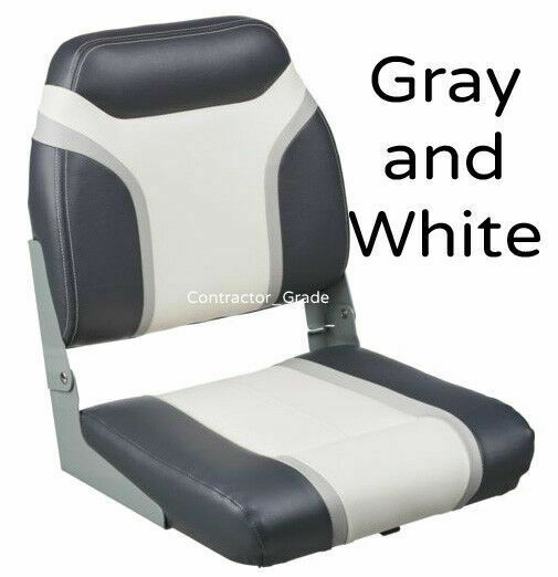 Pontoon Boat Seats For Sale >> Gray And White Folding Boat Seat For Boating Bass Fishing Pontoon Seats
