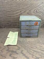 Vintage Union Chest Sectional Parts Cabinet Model 410 Original Sticker