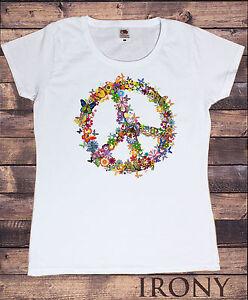 t-shirt mit peace aufdruck