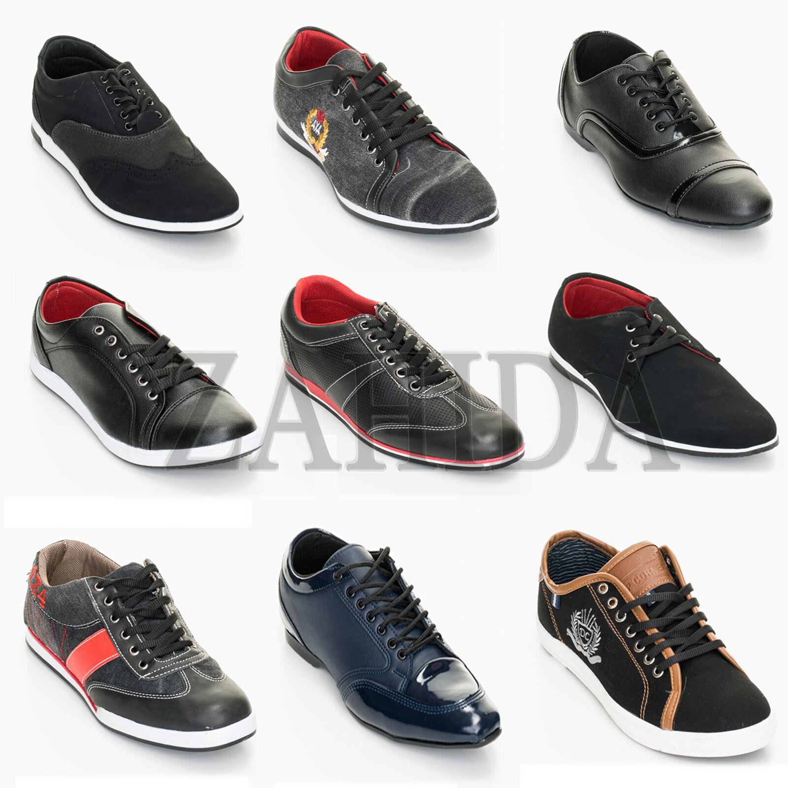 Uomo Scarpe Sneaker Business NERO Salameh turnshuhe CLUB PARTY NERO Business 40-44 NUOVO 8ce262