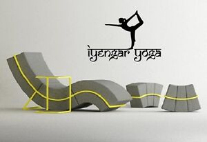 Details about Wall Stickers Vinyl Decal Iyengar Yoga Pose Exercise Room  Yogini Om EM576