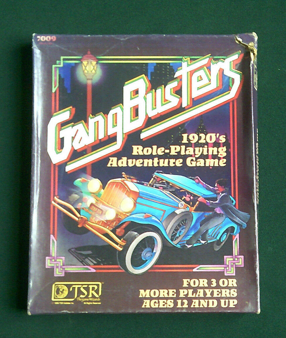 TSR, GANGBUSTERS RPG - BOXED SET (1982)
