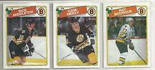 1988-89 O-PEE-CHEE Hockey Boston Bruins 14-card Team Set   Ray Bourque