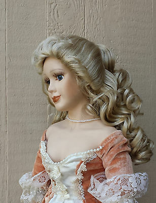 """Doll Wig - W490 Cascading Ringlets size 11""""(head): CHOICE of color."""