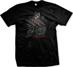 Route 66 Classic Rumblers Motorcycles Choppers Bikers Mens V-neck T-shirt