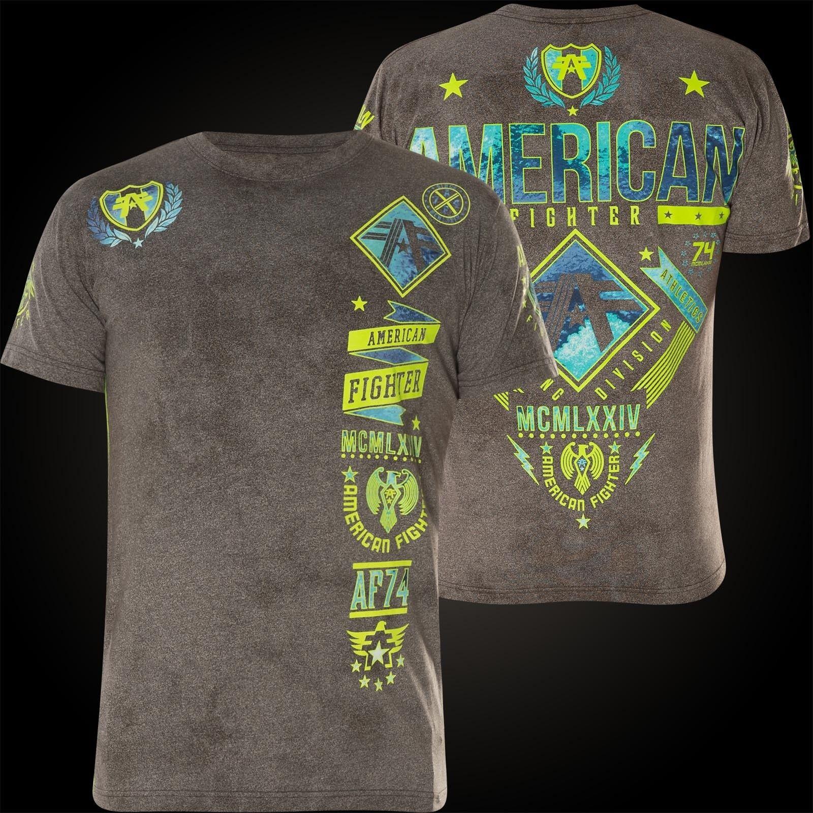 AMERICAN FIGHTER Affliction T-Shirt Lander Grau T-Shirts | Modern Und Elegant  | Modern  | Großer Verkauf