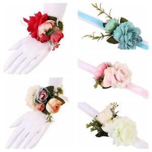 Brautjungfer Weberei Hochzeit Blumen Armband Braut Armband Armreif