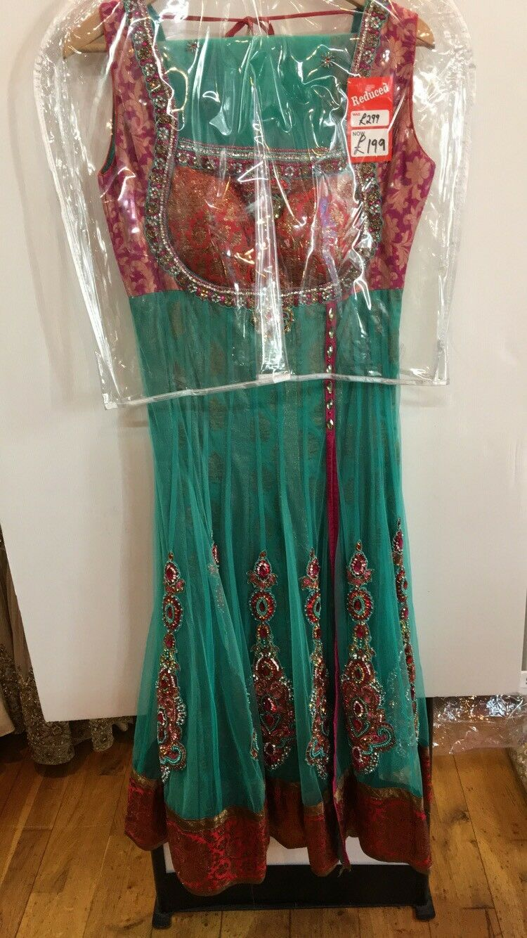 Bollywood Indian Pakistani Ethnic Designer Heavy Work Bridal Bridesmaid Anarkali